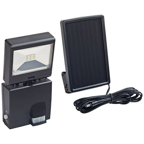 220 Lumen LED Black Motion-Activated Solar Security Light