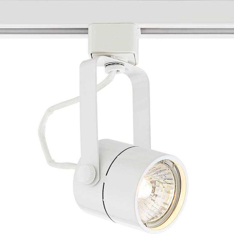 Pro Track White Cylinder 50 Watt Gu10 Halo Head 1x343 Lamps Plus