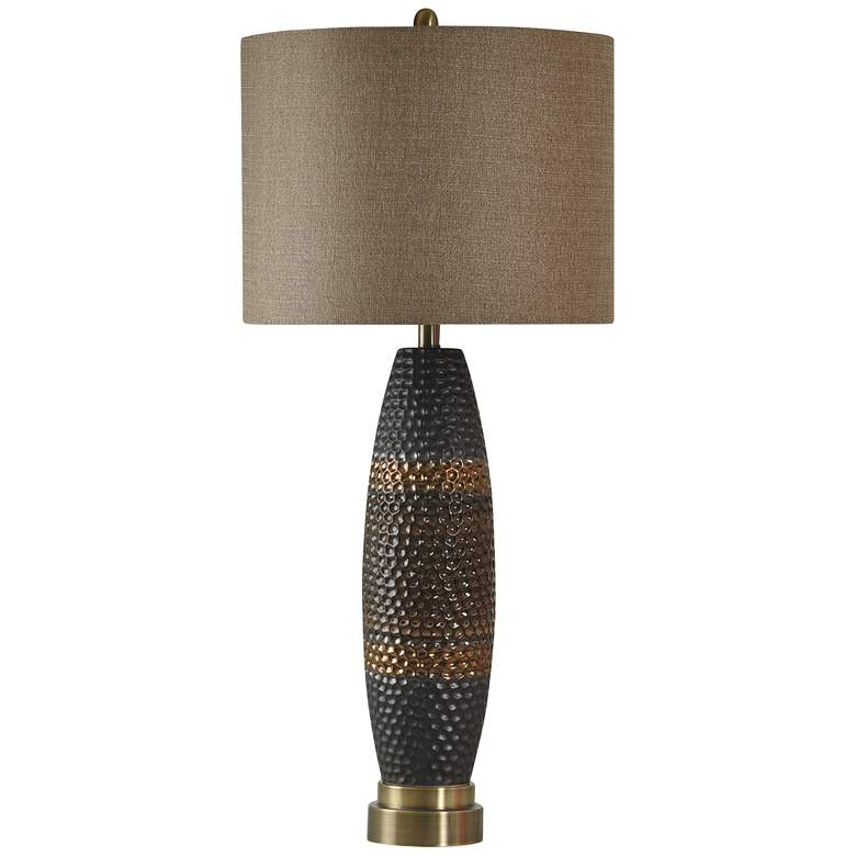 Laughlin Gold and Gray Modern Ceramic Table Lamp