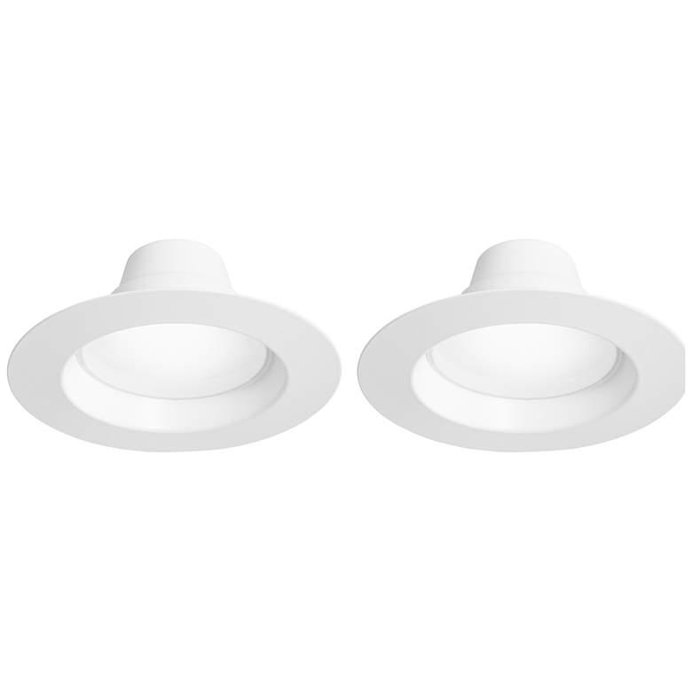 "6"" White 15W LED Retrofit Trim 2-Pack"