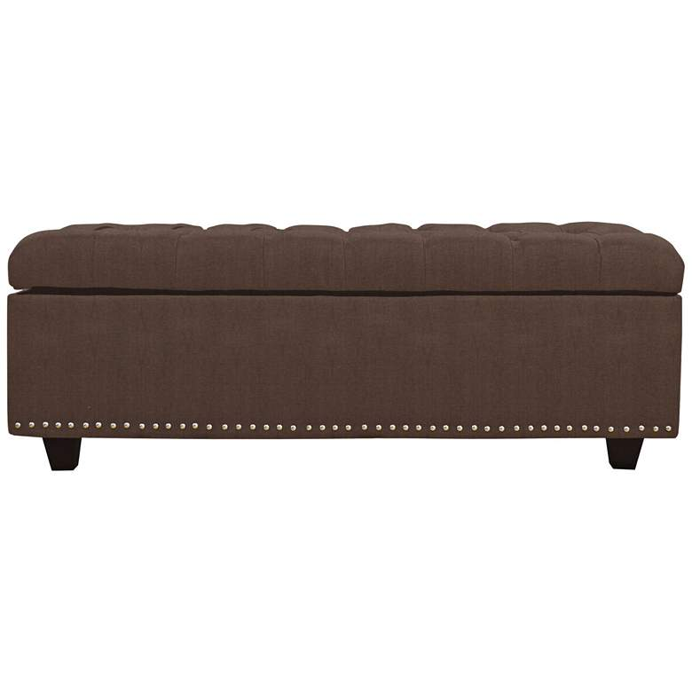 Sand Brown Fabric Tufted Storage Bench