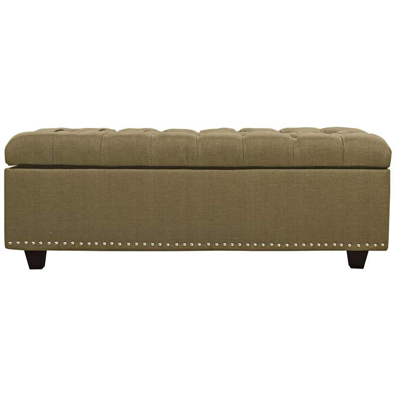 Sand Wasabi Tufted Storage Bench