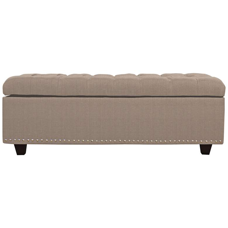 Grant Linen Tufted Storage Bench