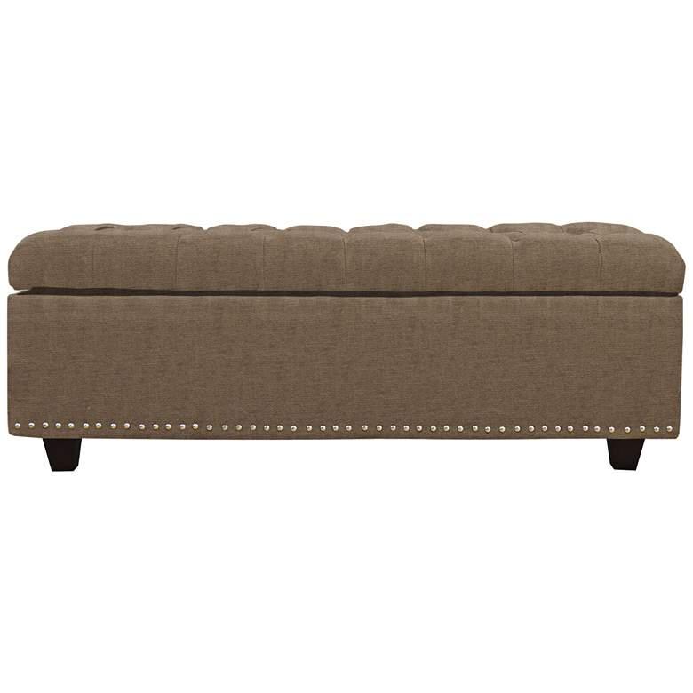 Flair Beige Fabric Tufted Storage Bench