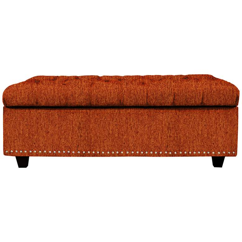 Flair Terracotta Fabric Tufted Storage Bench