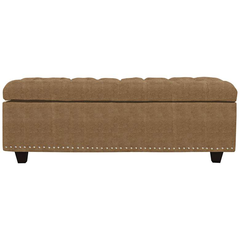 Flair Saddle Fabric Tufted Storage Bench