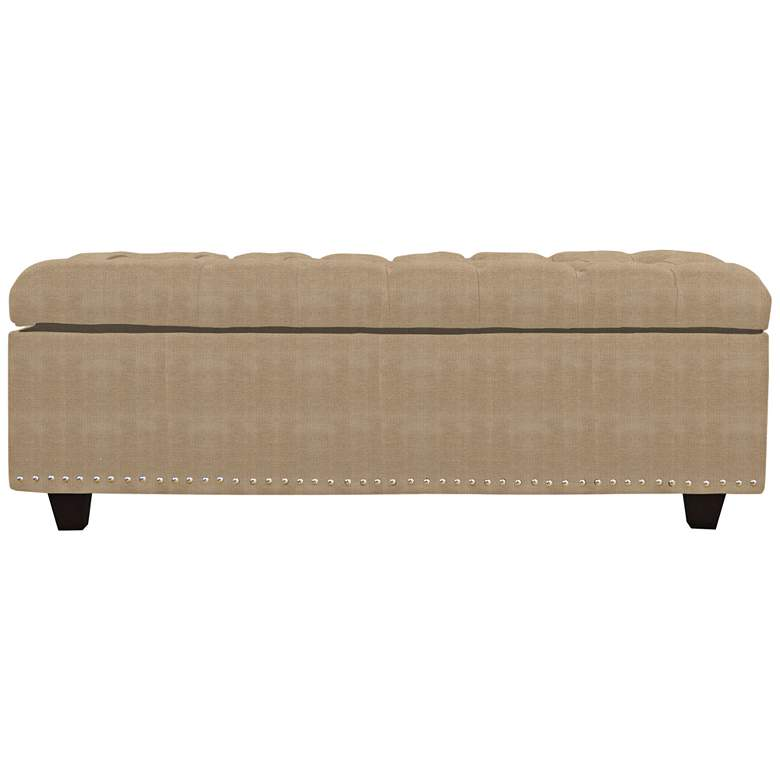 Flair Cream Fabric Tufted Storage Bench