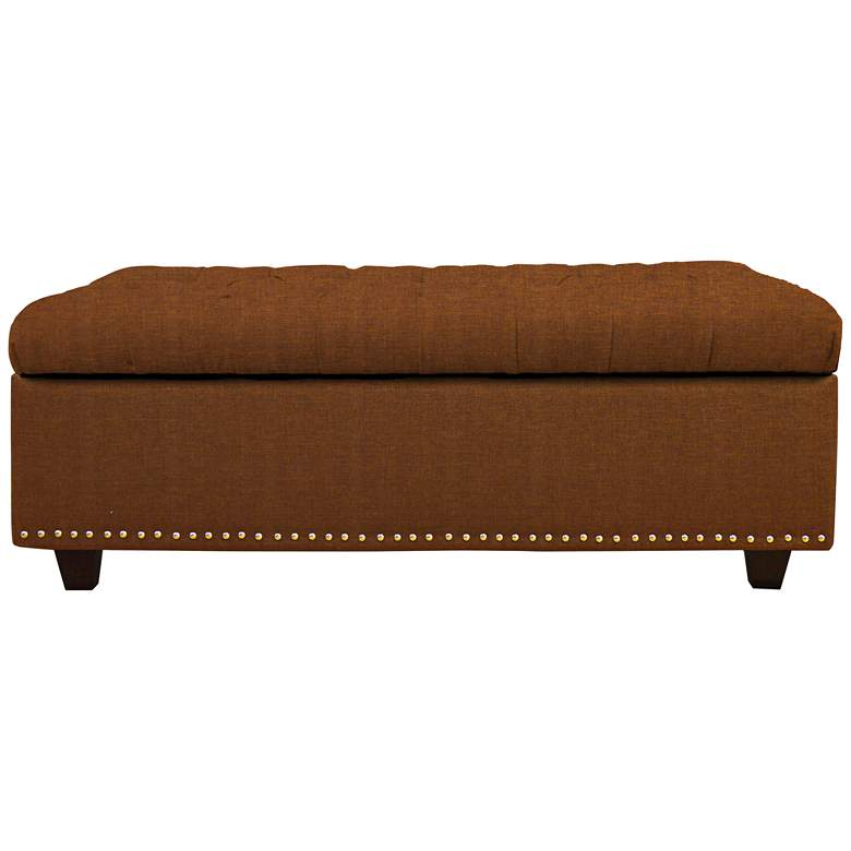 Sand Nuggets Fabric Tufted Storage Bench
