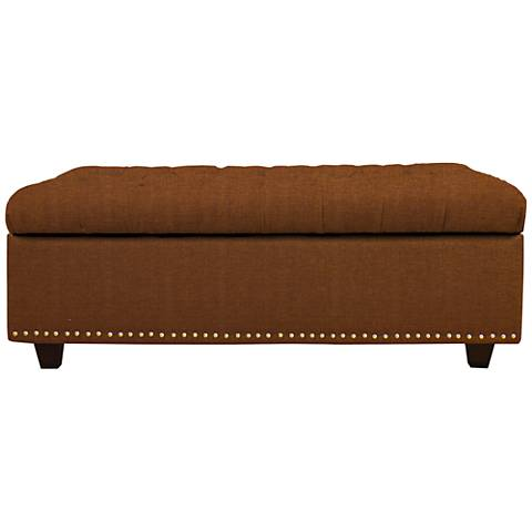 Sand Nuggets Fabric Tufted Storage Ottoman