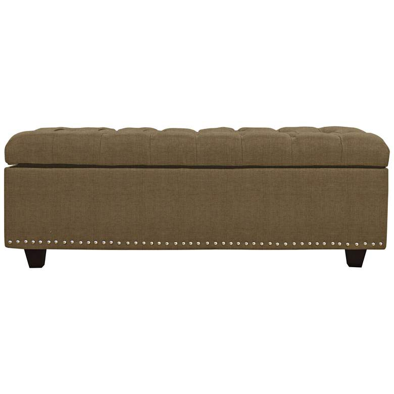 Sand Earth Fabric Tufted Storage Bench