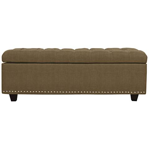 Sand Earth Fabric Tufted Storage Ottoman