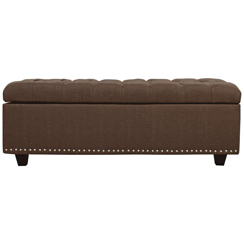 Sand Bittersweet Fabric Tufted Storage Ottoman