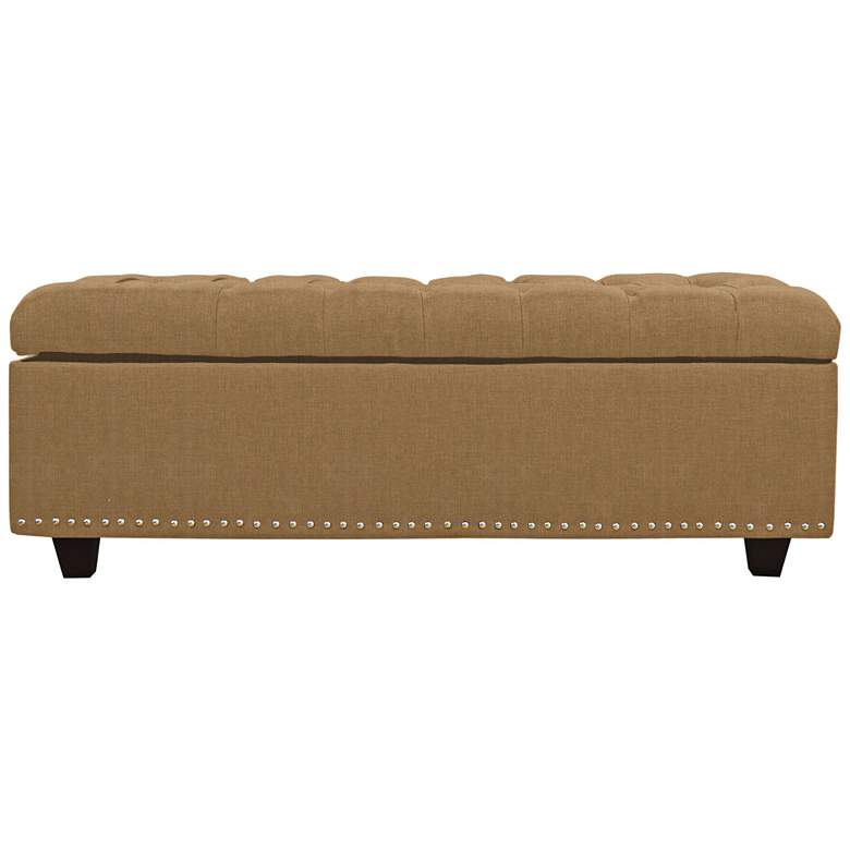 Sand Golden Fabric Tufted Storage Bench