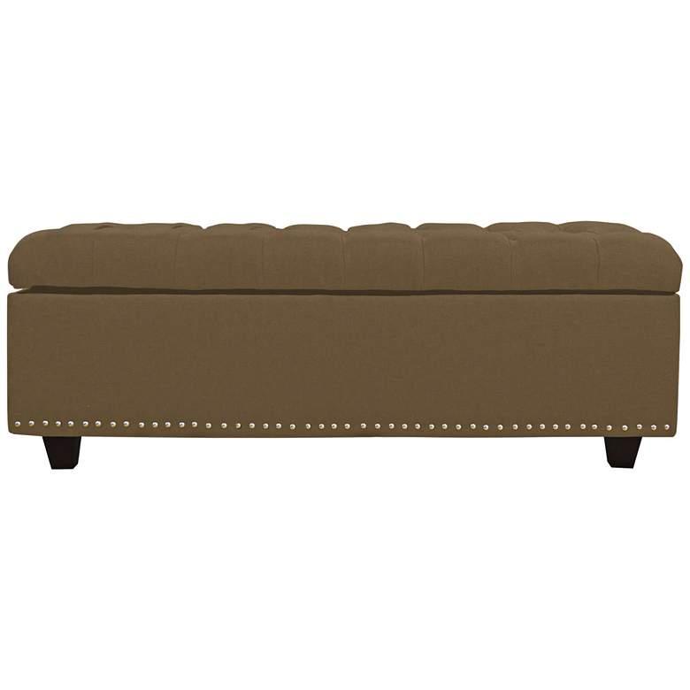Grant Pecan Fabric Tufted Storage Bench