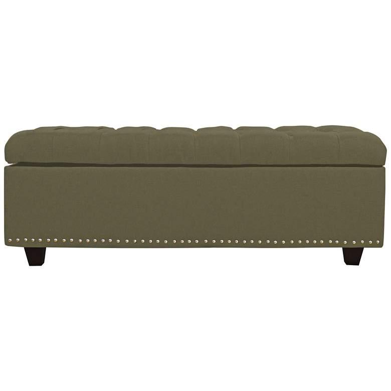 Grant Sage Fabric Tufted Storage Bench
