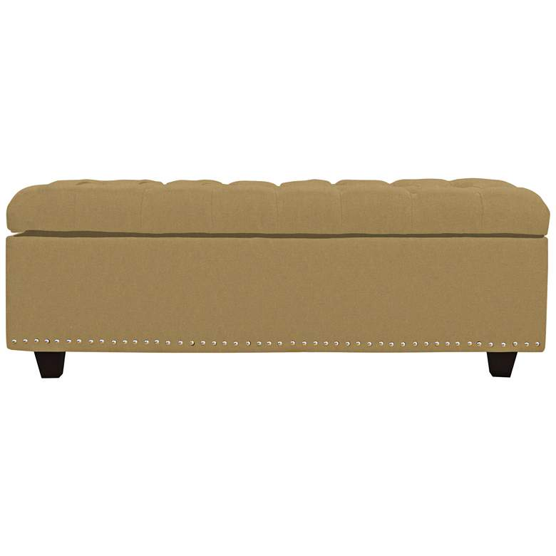 Grant Wheat Fabric Tufted Storage Bench