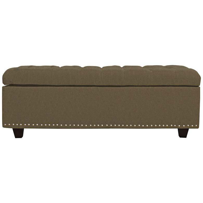 Grant Cocoa Fabric Tufted Storage Bench