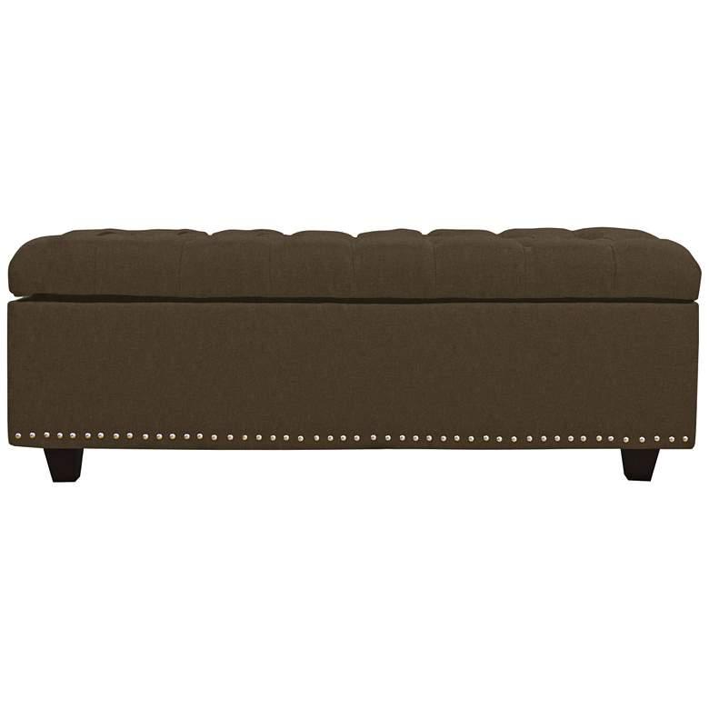 Grant Gravel Fabric Tufted Storage Bench