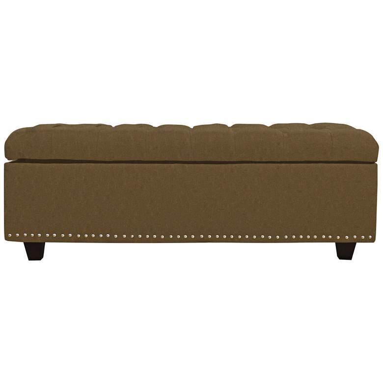 Grant Coffee Fabric Tufted Storage Bench