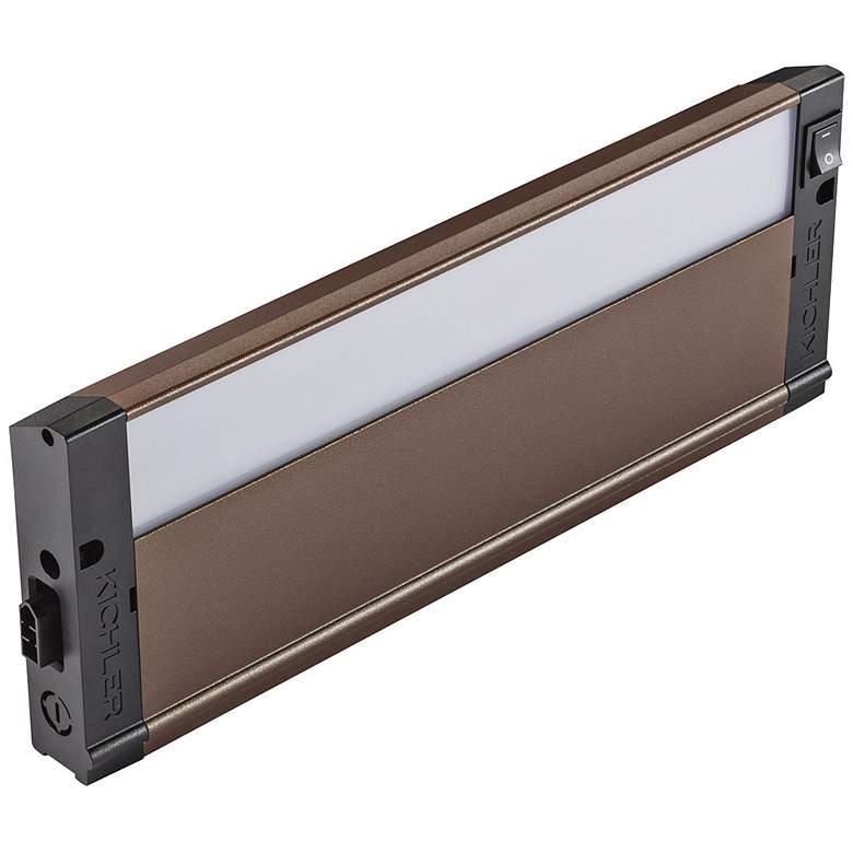 "Kichler 4U Textured Bronze 12"" Wide LED Under Cabinet Light"