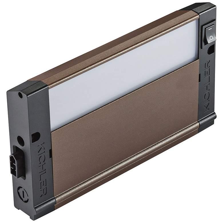 "Kichler 4U Textured Bronze 8"" Wide LED Under Cabinet Light"