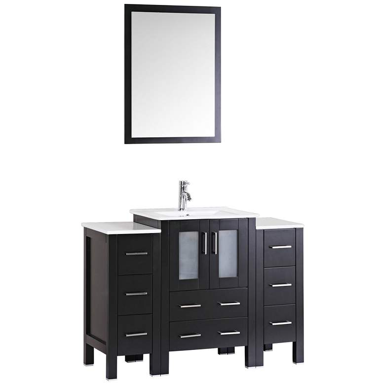 "Bosconi 48"" Espresso Integrated Single-Sink Vanity Set"