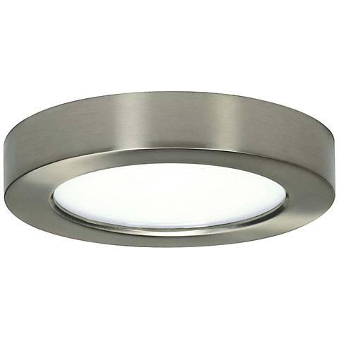 "Blink Brushed Nickel 7"" Wide Round LED Ceiling Light"