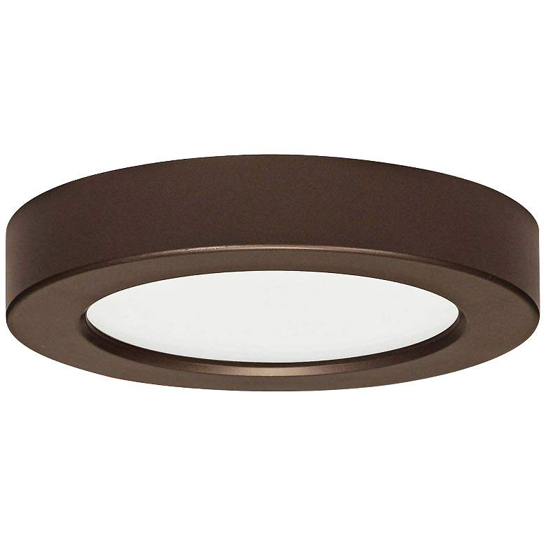 "Blink Bronze 7"" Wide Round LED Ceiling Light"
