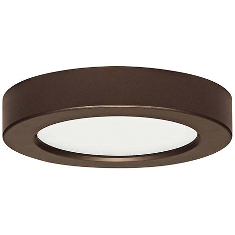 "Blink Bronze 9"" Wide Round LED Ceiling Light"
