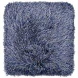 "Dallas Gray-Blue 20"" Square Decorative Shag Pillow"