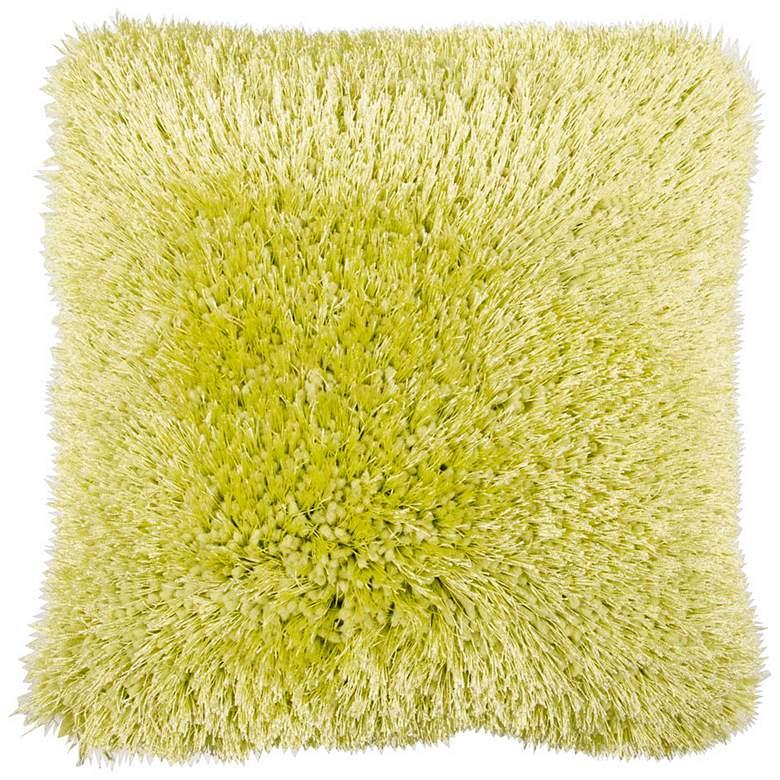 "Duran Green 20"" Square Decorative Shag Pillow"