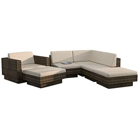 Park Terrace Saddle Strap 6-Pc Piece Sectional Patio Set