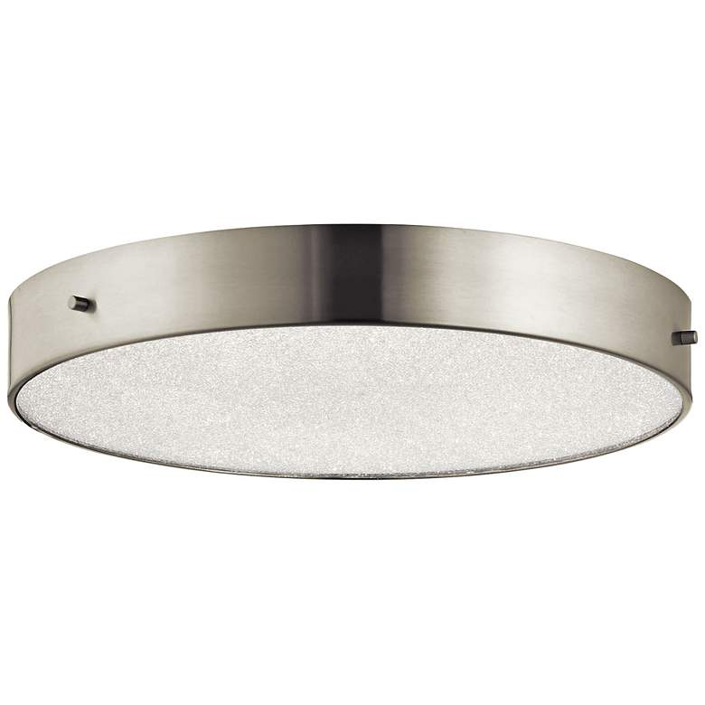 "Elan Crystal Moon Nickel 15 3/4""W LED Round"