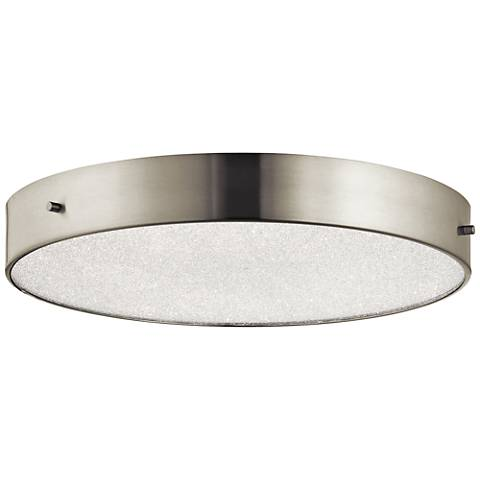 "Elan Crystal Moon Nickel 15 3/4""W LED Round Ceiling Light"