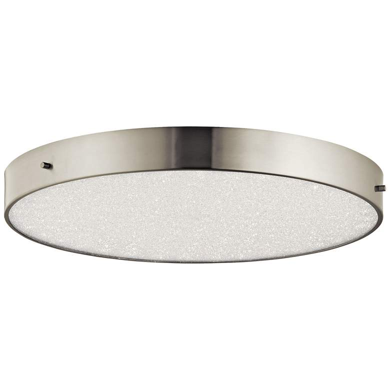 "Elan Crystal Moon Nickel 19 3/4""W LED Round"