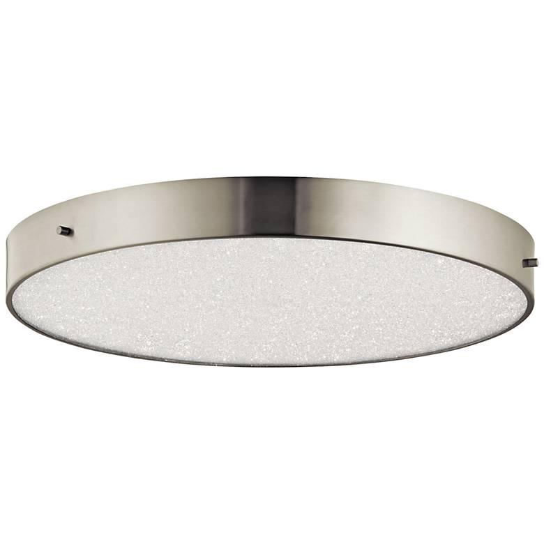 "Elan Crystal Moon Nickel 19 3/4""W LED Round Ceiling Light"