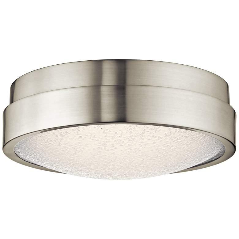 "Elan Piazza Brushed Nickel 13""W LED Round Ceiling Light"