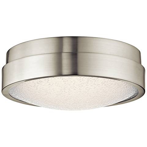 Modern ceiling lights contemporary close to ceiling light fixtures elan piazza brushed nickel 13w led round ceiling aloadofball Image collections