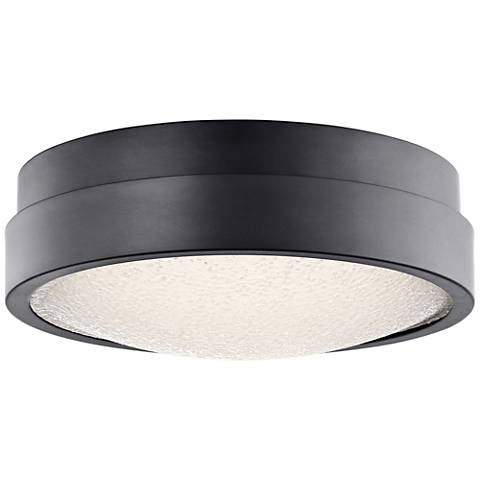 "Elan Piazza Bronze 13"" Wide LED Round Ceiling Light"
