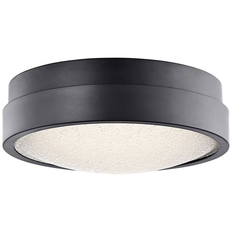"""Elan Piazza Bronze 13"""" Wide LED Round Ceiling Light"""