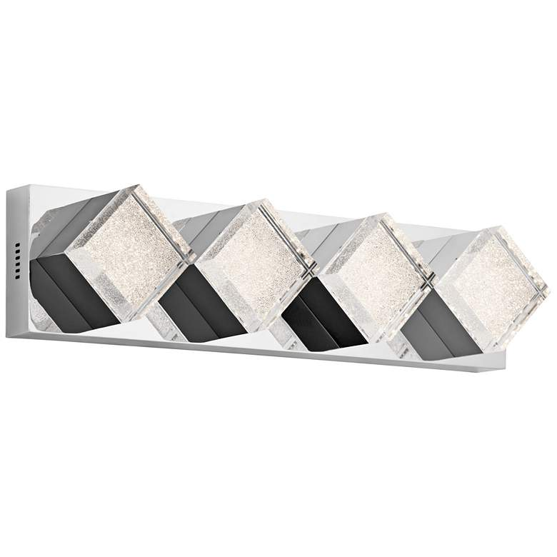"Elan Gorve Chrome 22 1/2"" Wide 4-LED Linear Bath Light"