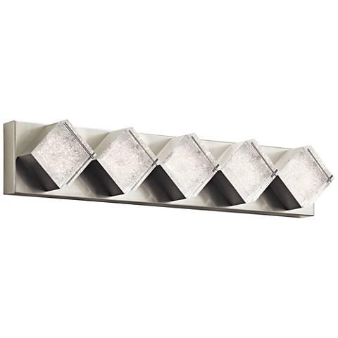 "Elan Gorve Nickel 28 1/4""W 5-LED Linear Bath Light"