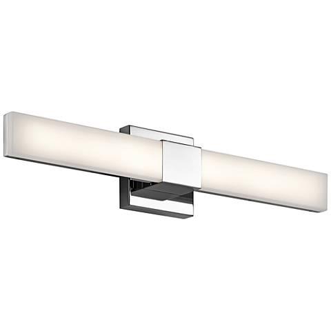 "Elan Neltev Chrome 24"" Wide LED Bath Light"