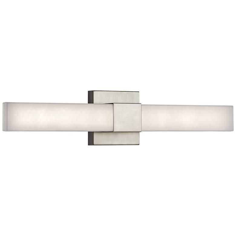 "Elan Neltev Satin Nickel 24"" Wide LED Bath Light"