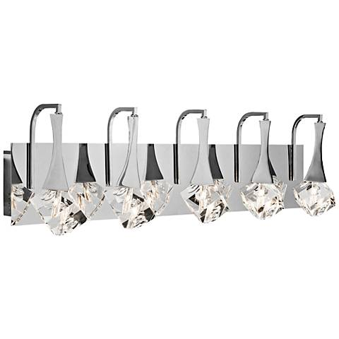 "Elan Rockne 5-Light Chrome 32"" Wide LED Bath Light"