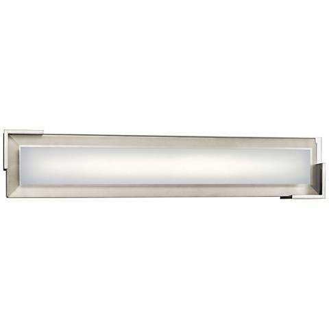 """Elan Jaxen Brushed Nickel 20 1/4"""" Wide LED Bath Light"""