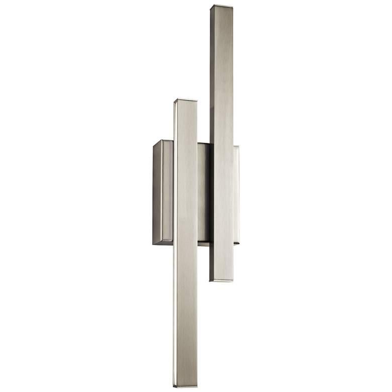 """Elan Idril Brushed Nickel 22 1/4"""" High LED Wall Sconce"""
