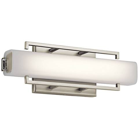 "Elan Perov Brushed Nickel 13 1/4"" Wide LED Bath Light"