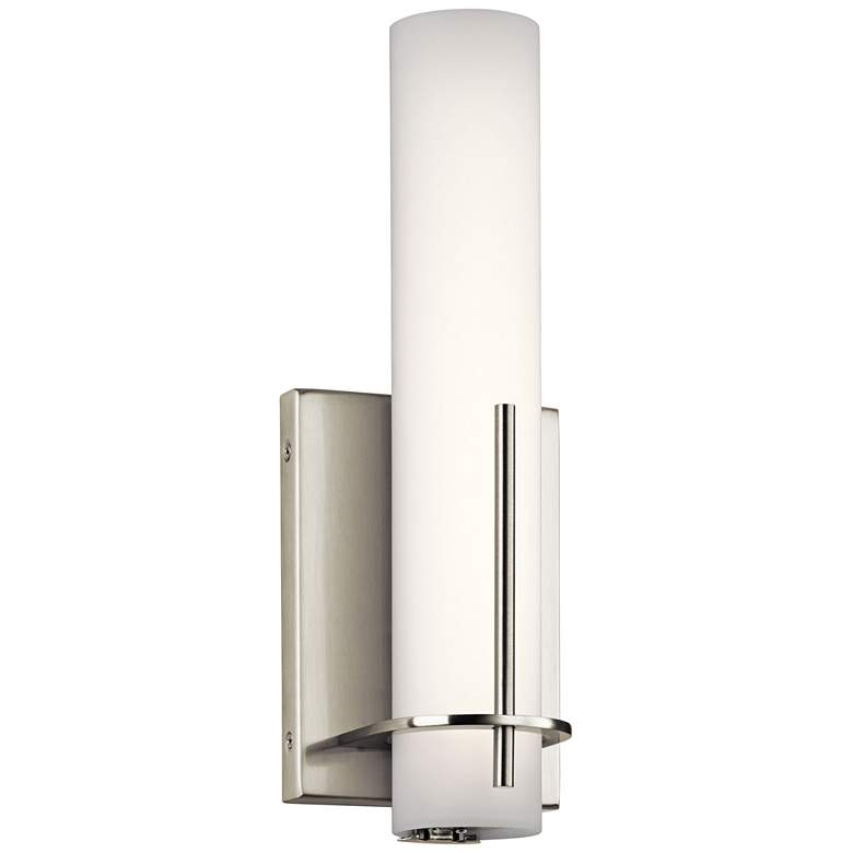 "Elan Traverso Brushed Nickel 13"" High LED Wall Sconce"