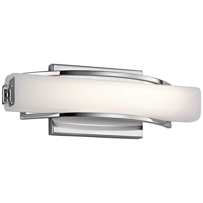 "Elan Rowan Chrome 13 1/4"" Wide LED Small Bath Light"